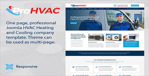 ProService HVAC Joomla Template