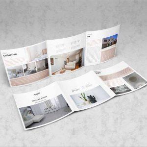 Real Estate Square Trifold Brochure