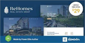 Rehomes Real Estate WordPress Theme