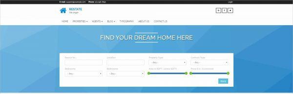 Restate Real Estate Drupal Theme