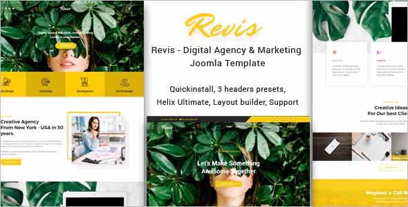 Revis Digital Agency Joomla Template