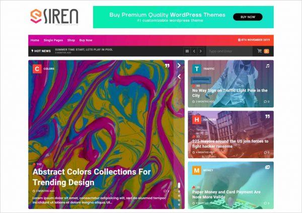 Siren News Magazine WordPress Theme