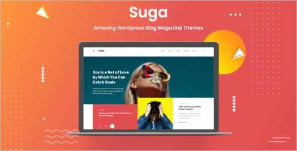 Suga Magazine and Blog WordPress Theme
