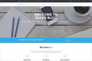 Super Blog Responsive Drupal Theme