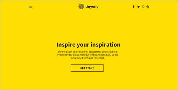 Tinyone Onepage Html Template