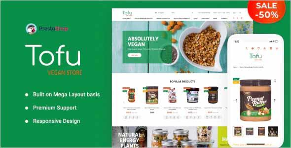 Tofu Vegan Store PrestaShop Theme