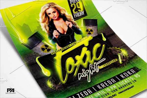 Toxic Night Party Flyer Template