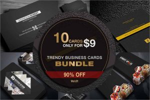 Trendy Business Cards Bundle V.1
