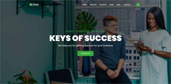 Unitek Business WordPress Theme