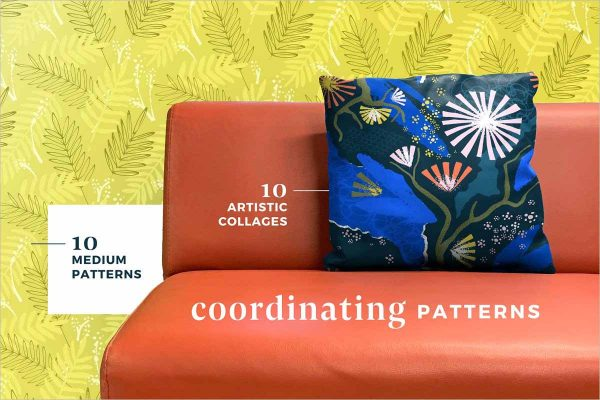 Verdant Abstract Seamless Patterns