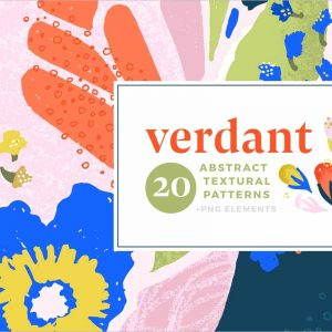 Verdant Abstract Seamless Patterns