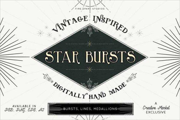 Vintage Starburst Vector Images