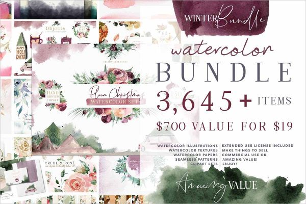 Watercolor Bundle Designer Deal