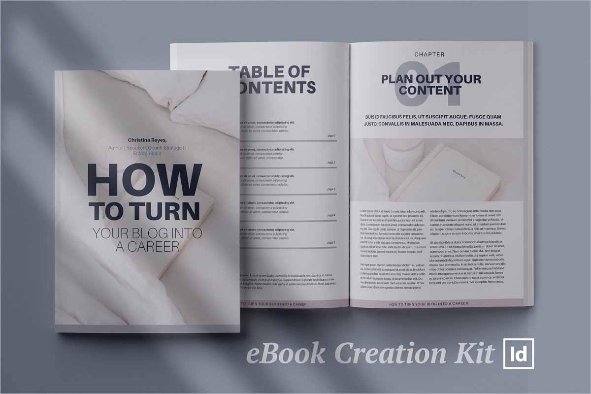 eBook creation kit InDesign template