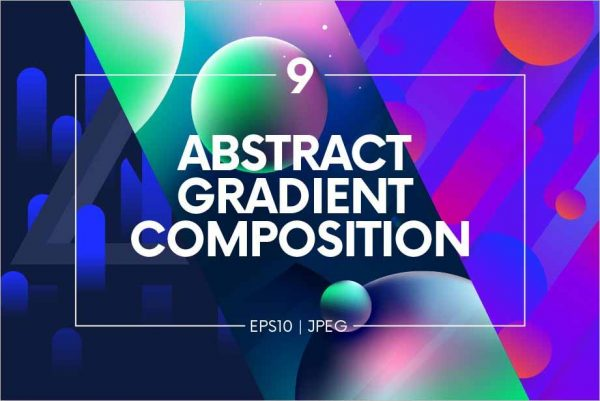 Abstract gradient composition