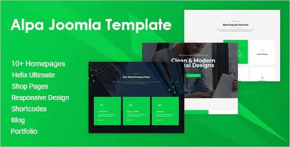 Alpa Multipurpose Joomla Website Template