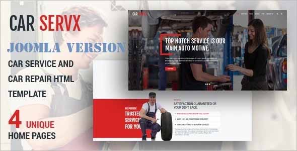 Carservx Car Repair Joomla Template