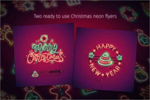 Christmas Colorful Neon Icons