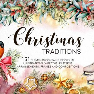 Christmas Traditions Watercolor
