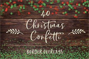 Christmas confetti borders