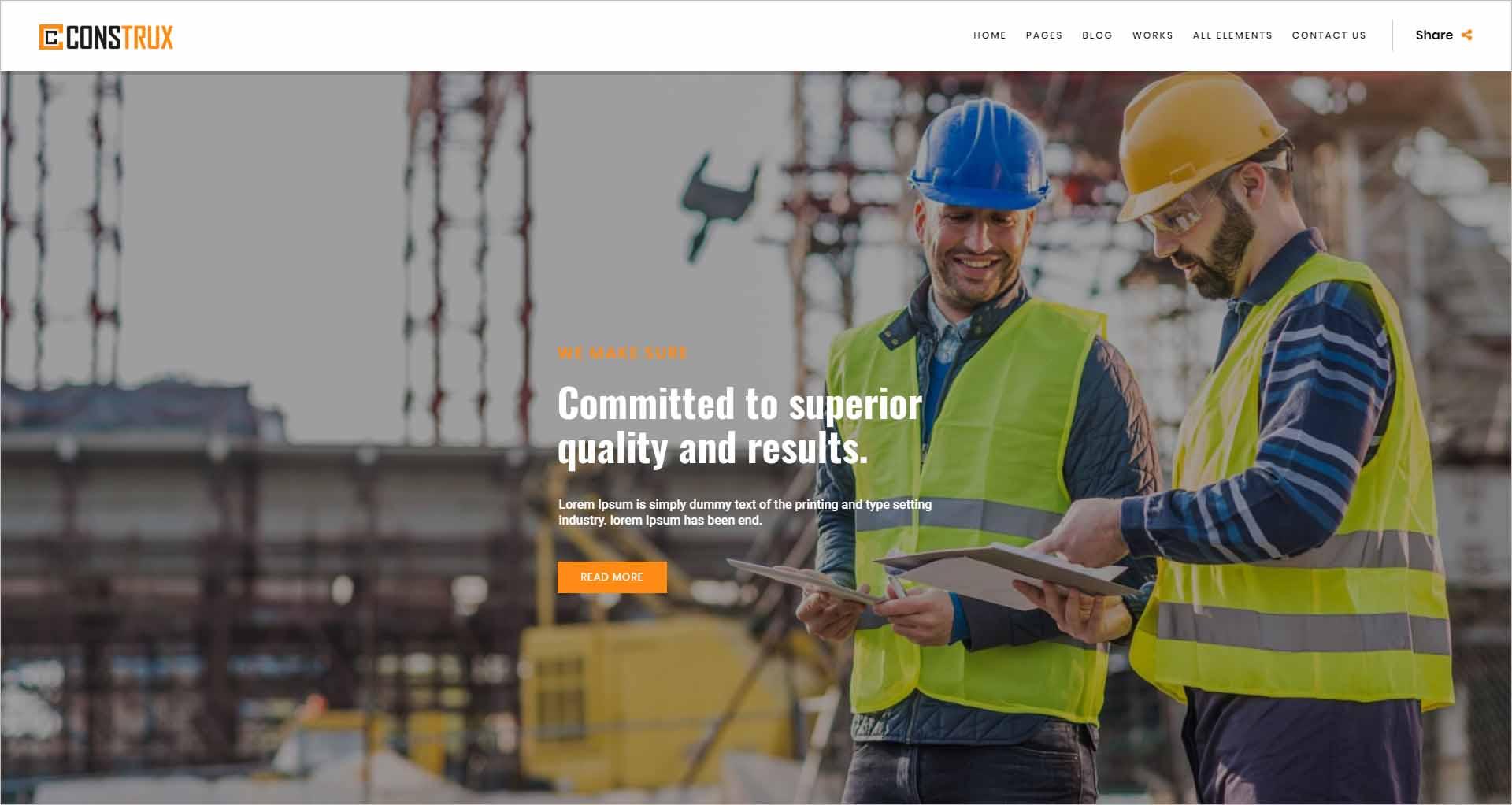 Construx Building Construction Joomla Template