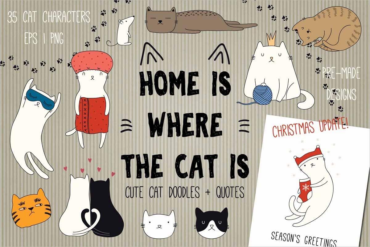 Cute Cat Doodles