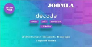 Decode Premium Business Joomla Template