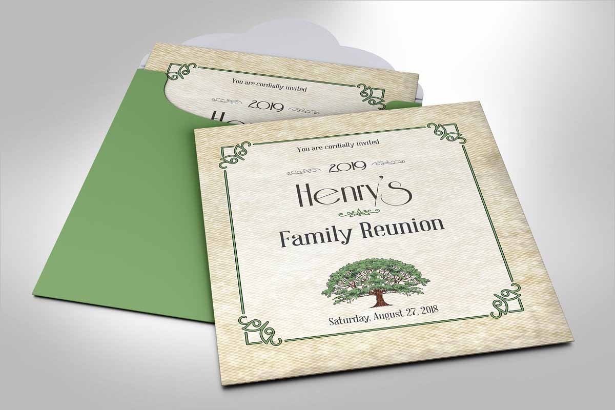 Family Reunion Invitation Word