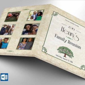 Family Reunion Invitation Word