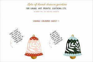 Festive Colour Elements EPS PNG