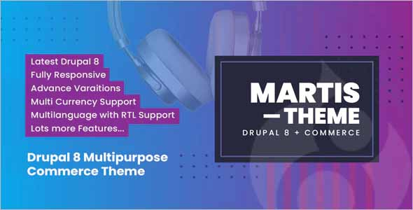 Martis Drupal 8 Commerce Theme