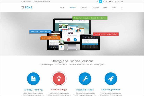 Responsive joomla template ZT Zone