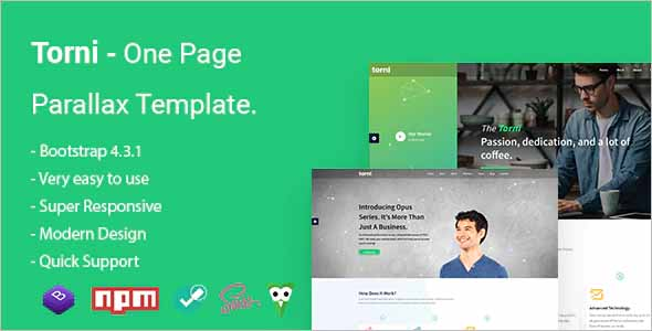 Torni One Page Parallax Template