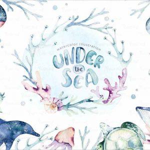 Under the sea watercolor set