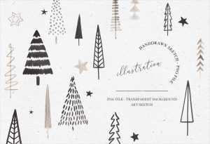 Watercolor Xmas Tree Bundle