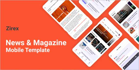Zirex News Magazine Mobile Template