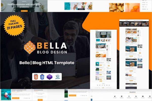 Bella Blog HTML Template