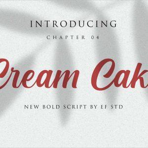Cream Cake Bold Script Font