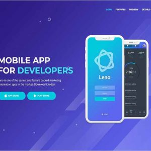 Leno Mobile App Landing HTML Page