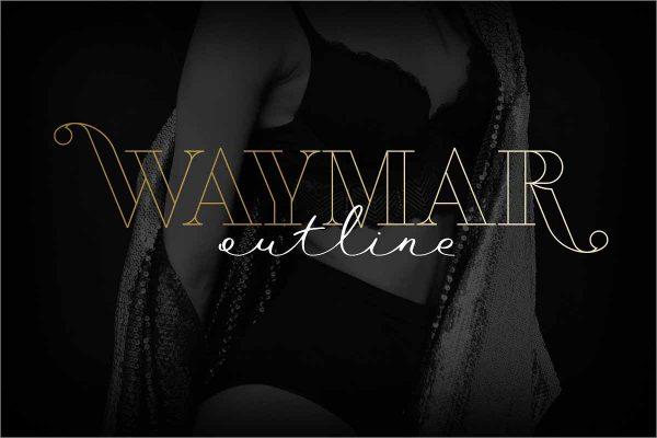 Waymar Outline Display Fonts