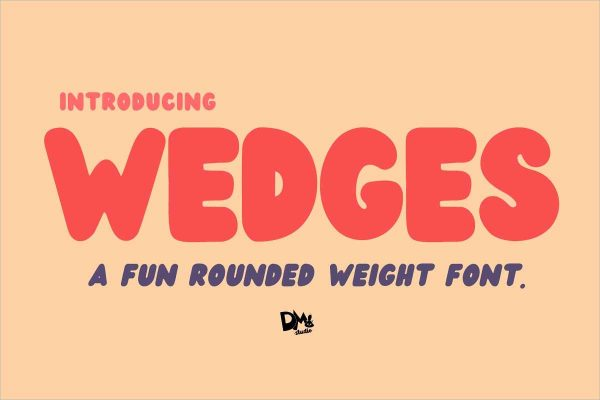 Wedges Rounded Font