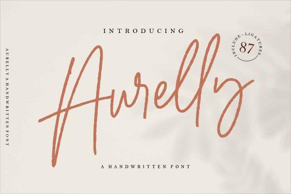 Aurelly Signature script font
