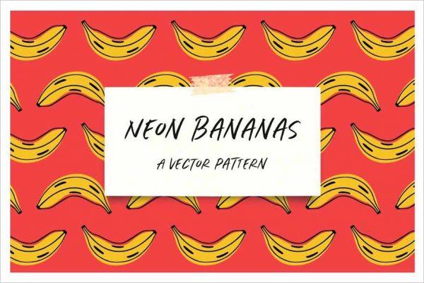 Bananas Repeat Vector Pattern