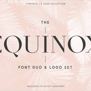 Equinox Stylish Font set