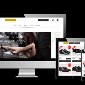 Free ECommerce Shoe Store template