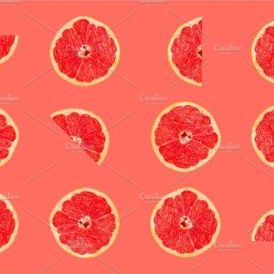 Grapefruit tropical pattern texture