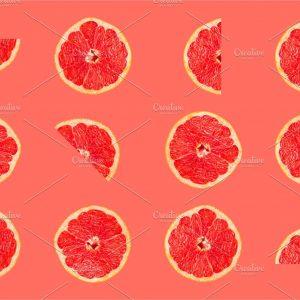 Grapefruit tropical pattern texture