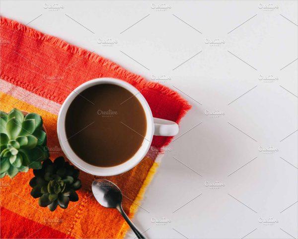 Green Coffee Flat Lay