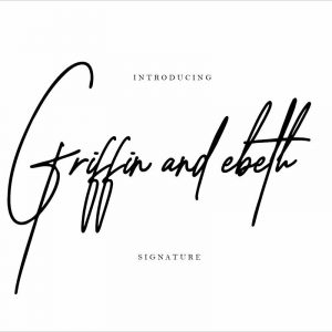 Griffin ebeth signature font