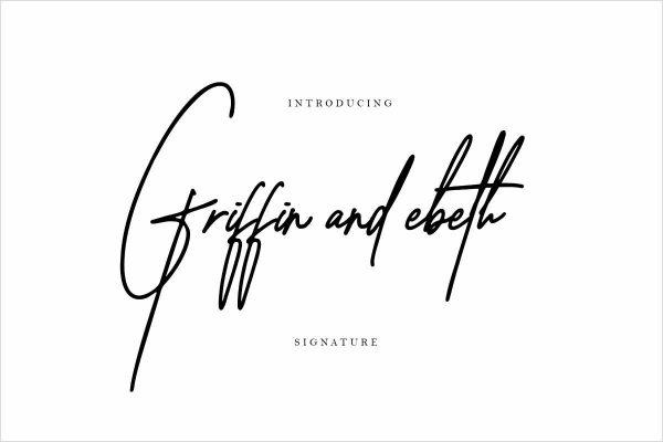 Griffin ebeth signature font